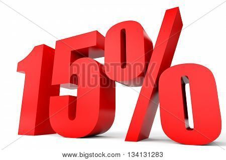 Discount 15 Percent Off. 3D Illustration.