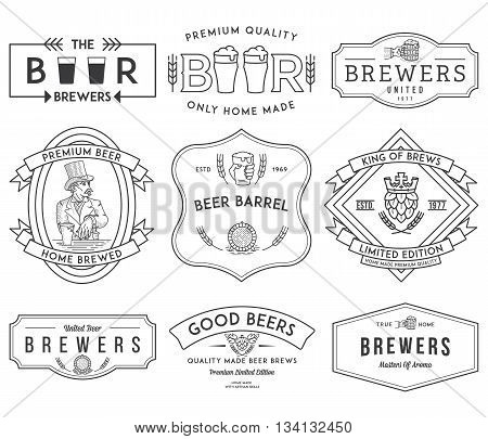 Vector beer badges and labels for any use