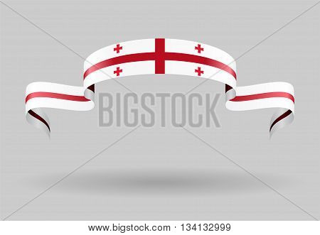 Georgian flag wavy abstract background. Vector illustration.