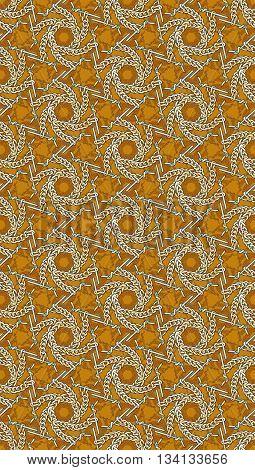 seamless pattern of knitting needles and yarn