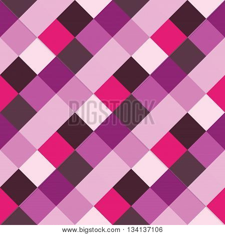 Seamless geometric pattern. Madras check pattern with lily lilac pink. Digital print for wallpaper wrapping paper fabric textile scrap booking apparel web design.Vector seamless background.