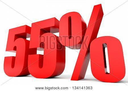 Discount 55 Percent Off. 3D Illustration.