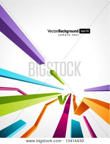 Abstract retro 3d technology lines vector background. Eps 10