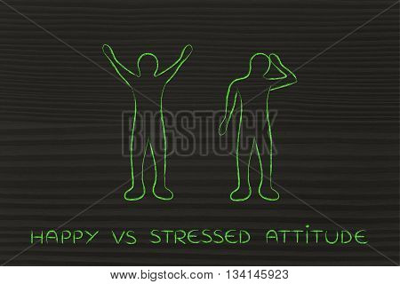 Happy Vs Stressed Attitude