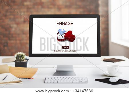 Engage Engagement Ring Couple Love Concept