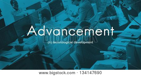 Advancement Technology Futuristic Innovation Development Concept