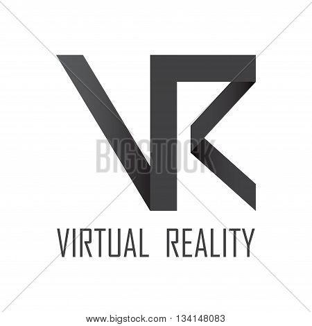 Virtual reality glasses logotype isolated on white background