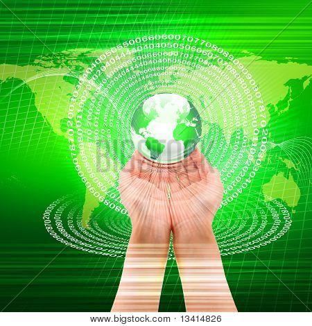 global technology illustration