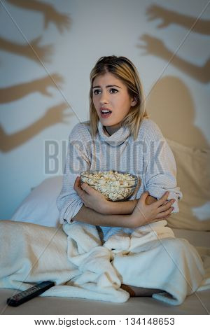 Girl Watching Horror Movie