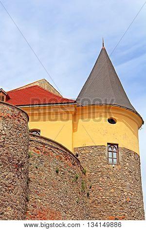 Palanok Castle or Mukachevo Castle, Zakarpattya, Ukraine, built in 14th century