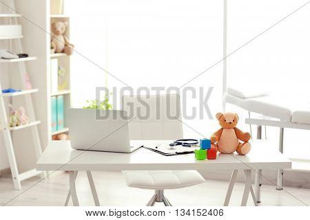 Modern interior of doctor office