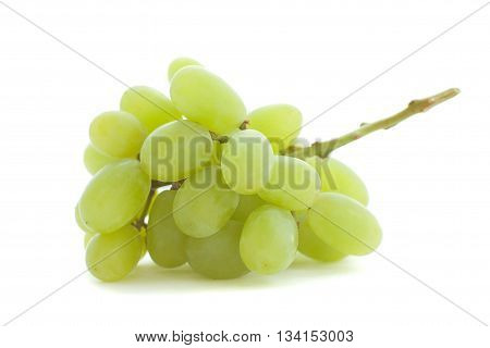 Little Green grape isolated on white background