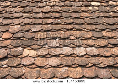 The old ceramic temple roof pattern. Ceramic background