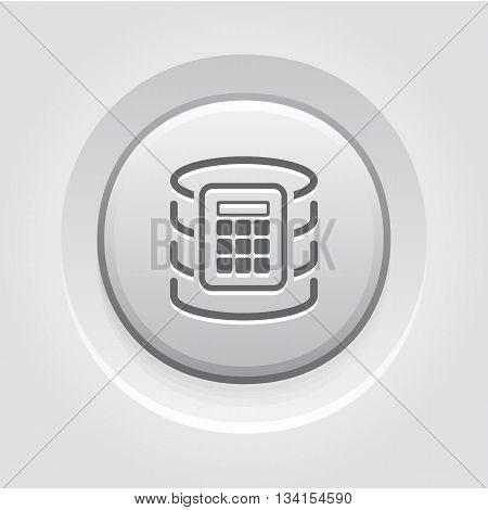Secure Database Icon. Flat Design. Business Concept Grey Button Design