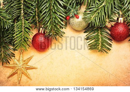 a Christmas vintage greeting card concept - Xmas background