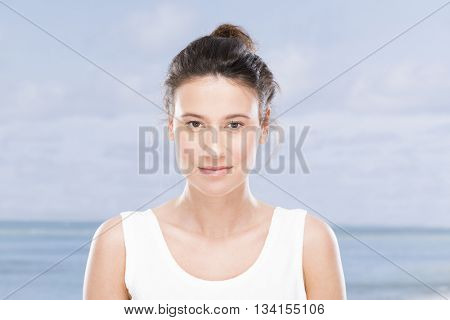 Young woman on the seaside