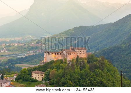 Beautiful view of Castle in northen Italy