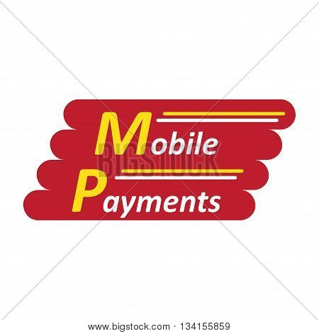 Mobile payments abstract company symbol isolated on white