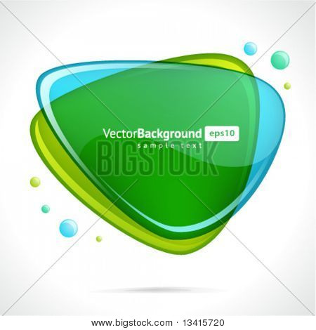 Abstract glossy speech bubble vector background