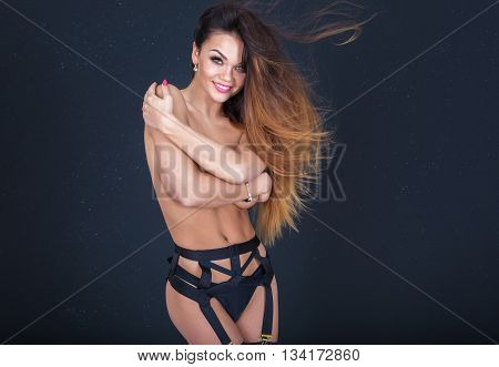 Sexy Girl In Erotic Lingerie.