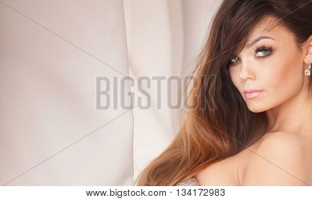 Portrait Of Beautiful Girl .