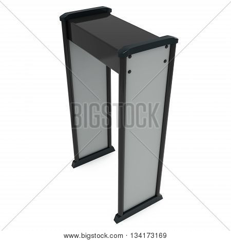 Metal Detector Scanner. 3D Render Isolated On White.