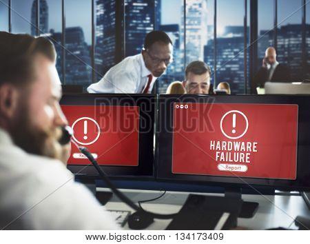 Hardware Failure Network Problem Technology Software Concept