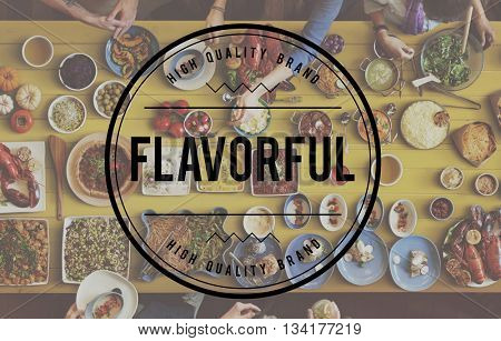 Flavorful Food Beverage Freshness Health Concept