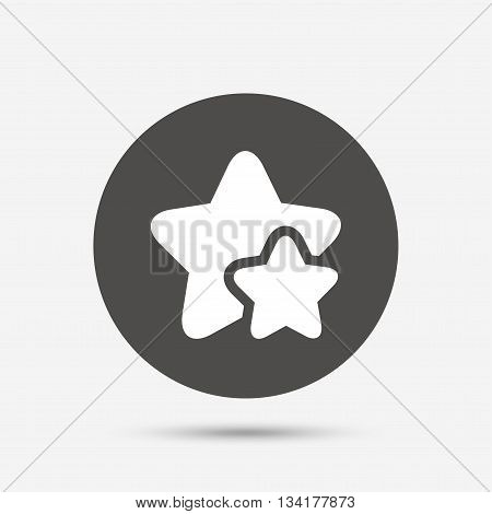 Star icon. Favorite sign. Best rated symbol. Gray circle button with icon. Vector