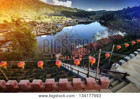 Ban Rak Thai Village a Chinese settlement in Pai Mae Hong Son Thailand.