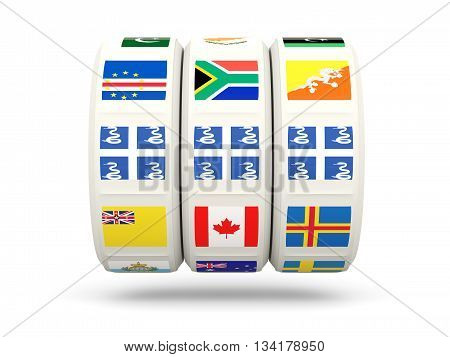 Slots With Flag Of Martinique