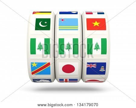 Slots With Flag Of Norfolk Island
