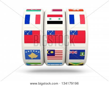 Slots With Flag Of Samoa