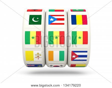 Slots With Flag Of Senegal