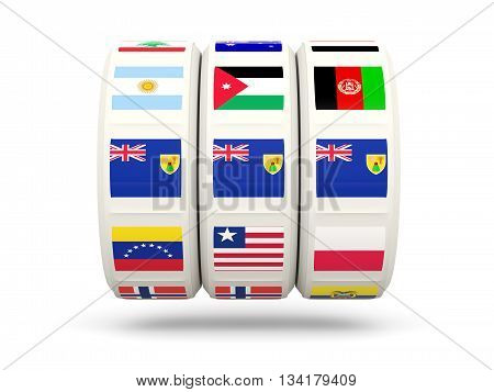 Slots With Flag Of Turks And Caicos Islands