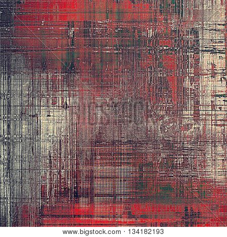 Hi res grunge texture or retro background. With different color patterns: brown; green; gray; red (orange); pink
