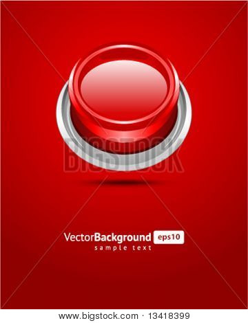 Red vector shiny button background