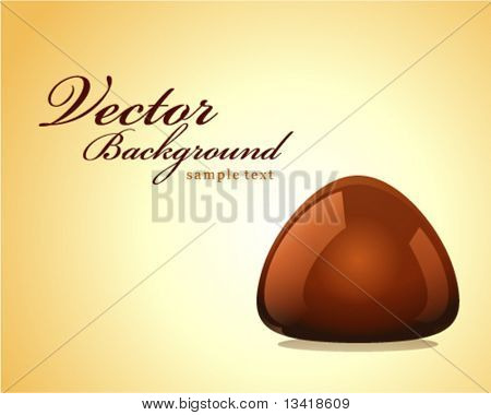 Chocolate truffle vector background