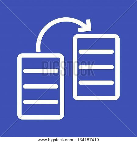 File, sharing, database icon vector image.Can also be used for networking. Suitable for mobile apps, web apps and print media.
