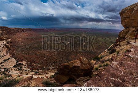 Valley Of The Gods Fromm Moki Dugway Overllook