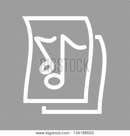Music, sheet, notes icon vector image. Can also be used for music. Suitable for use on web apps, mobile apps and print media.
