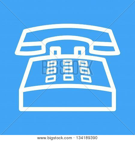 Telephone, office, dial icon vector image.Can also be used for customer services. Suitable for mobile apps, web apps and print media.
