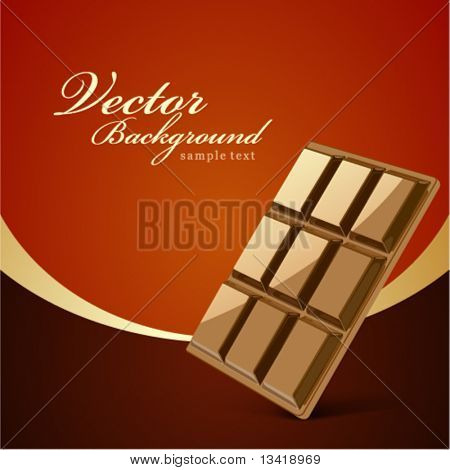 Chocolate bar vector background