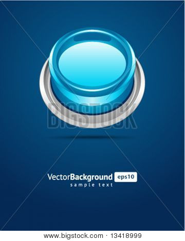 Blue vector shiny button background
