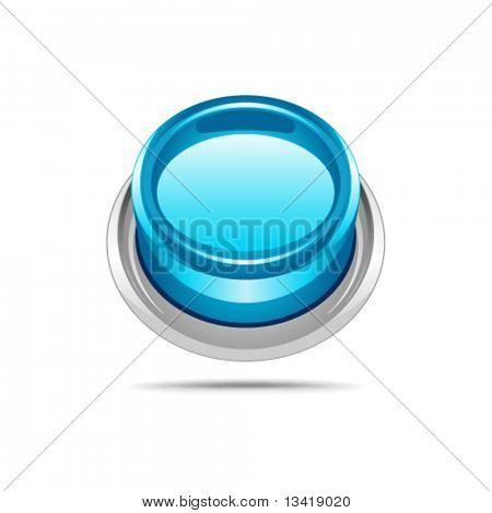 Blue vector shiny button