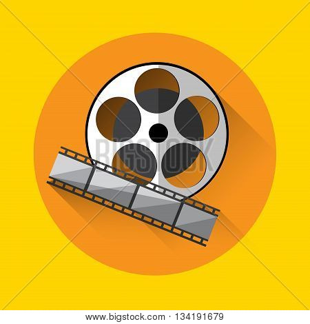Filmstrip Icon Film Industry Concept Flat Vector Illustration