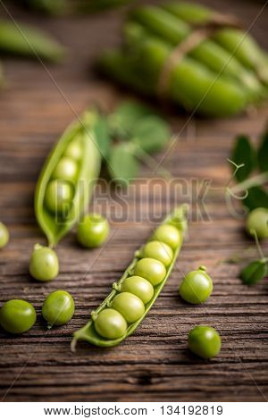Opened Green Pea Pods