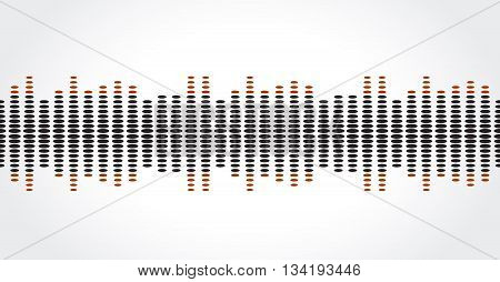 equalizer music sound background graphic design vector