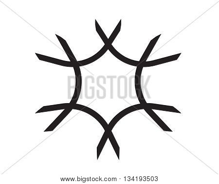 neuron sign design graphic element isolated vector