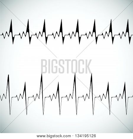 equalizer seamless musical bar. white background eq vector